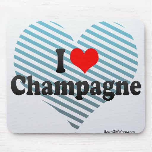 I Love Champagne Mouse Pad
