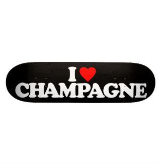 I LOVE CHAMPAGNE SKATEBOARD DECK