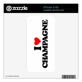 I LOVE CHAMPAGNE SKIN FOR THE iPhone 4