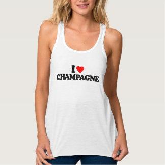 I LOVE CHAMPAGNE TANK TOP