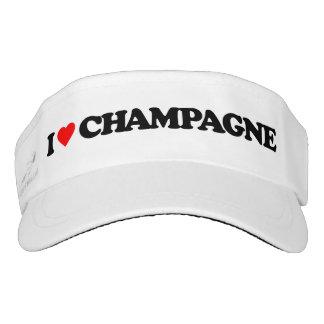 I LOVE CHAMPAGNE VISOR