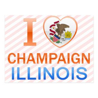 I Love Champaign, IL Postcard