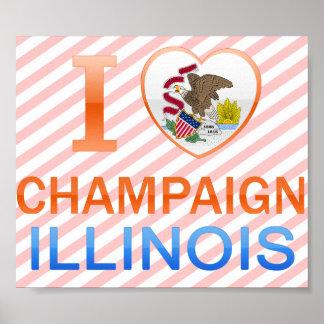 I Love Champaign, IL Posters