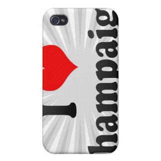 I Love Champaign, United States iPhone 4 Cases