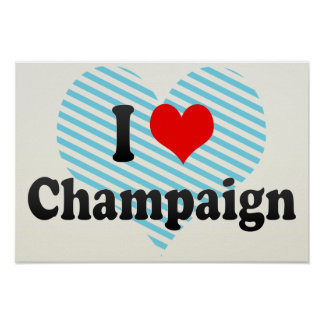 I Love Champaign, United States Posters