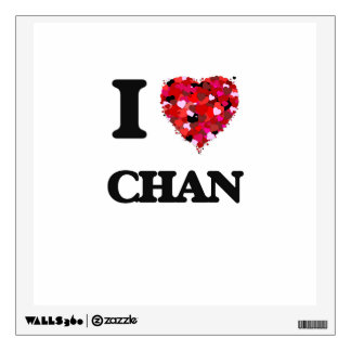 I Love Chan Wall Stickers