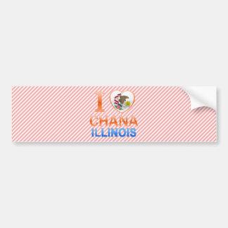 I Love Chana, IL Car Bumper Sticker