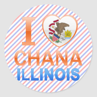 I Love Chana, IL Classic Round Sticker