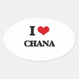 I Love Chana Oval Sticker