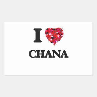 I Love Chana Rectangular Sticker
