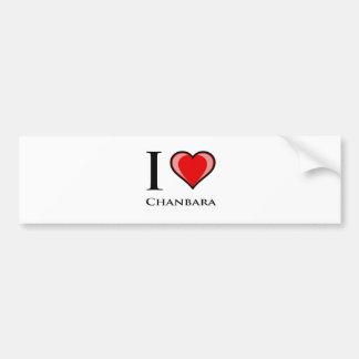 I Love Chanbara Bumper Stickers