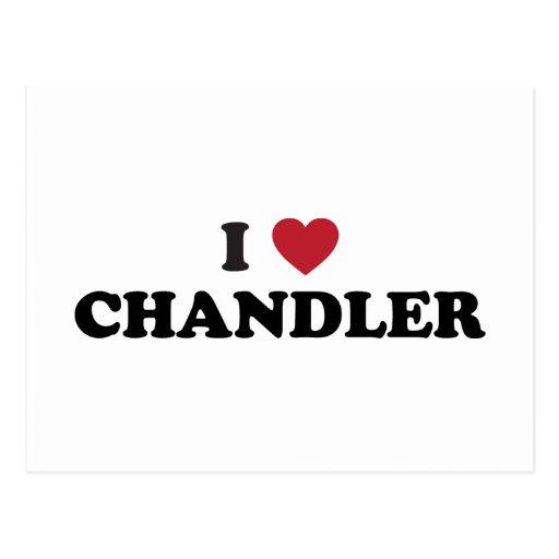 I Love Chandler Postcard