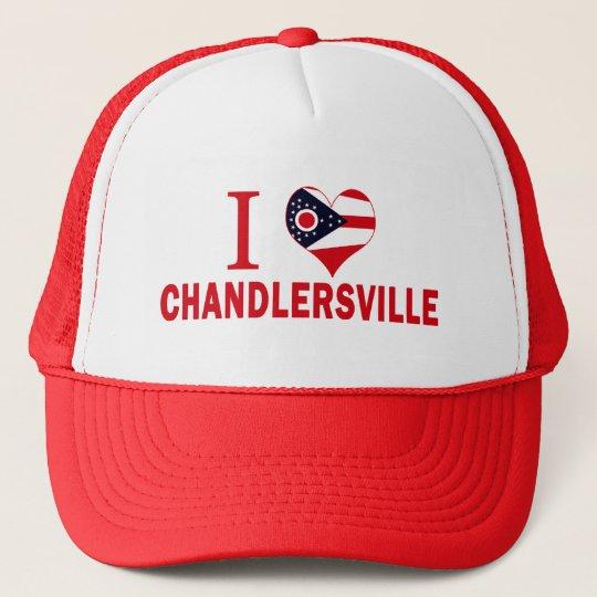 I love Chandlersville, Ohio Trucker Hat