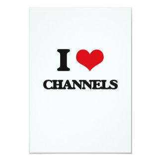 I love Channels 3.5x5 Paper Invitation Card