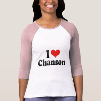 I Love Chanson Tshirt