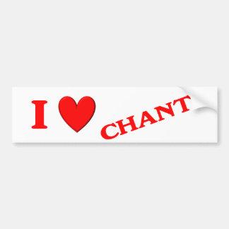 I Love Chante Car Bumper Sticker