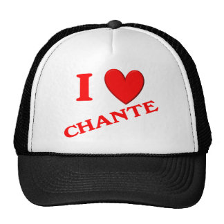 I Love Chante Mesh Hats