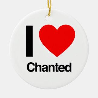 i love chanted christmas tree ornaments