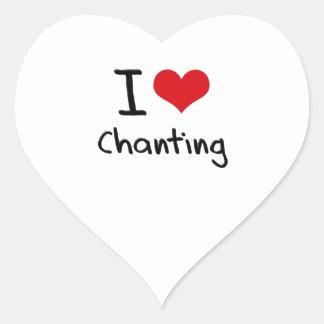 I love Chanting Heart Sticker