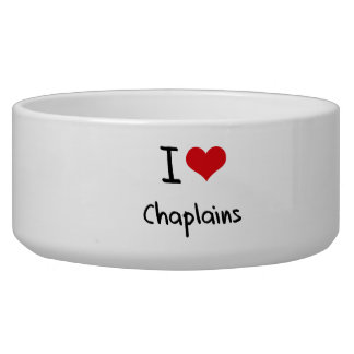I love Chaplains Dog Food Bowl