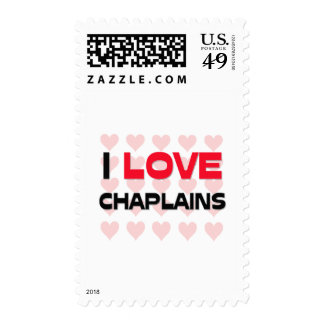 I LOVE CHAPLAINS POSTAGE STAMPS