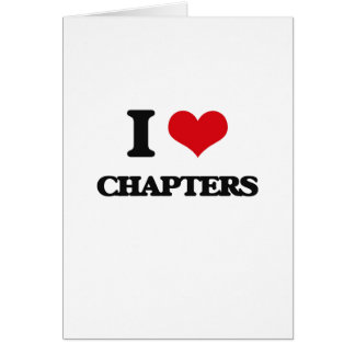 I love Chapters Greeting Card