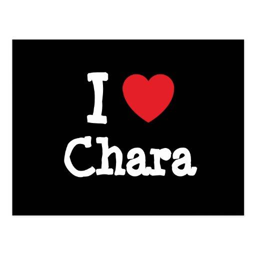 I love Chara heart T-Shirt Postcard
