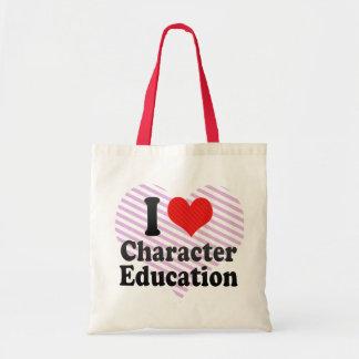 I Love Character Education Tote Bag