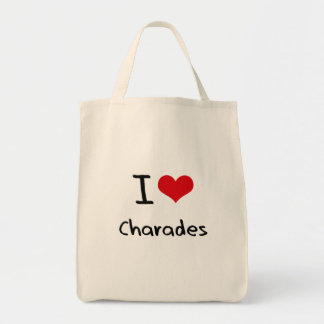 I love Charades Grocery Tote Bag