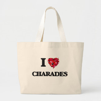 I love Charades Jumbo Tote Bag