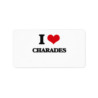 I love Charades Custom Address Label