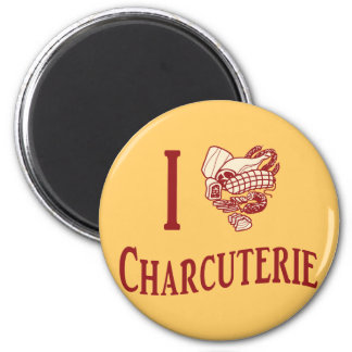 I Love Charcuterie 2 Inch Round Magnet