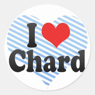 I Love Chard Classic Round Sticker