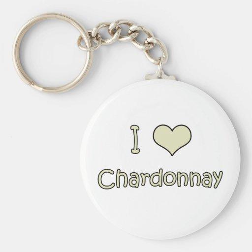 I Love Chardonnay Keychain