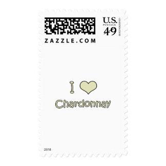 I Love Chardonnay Stamps