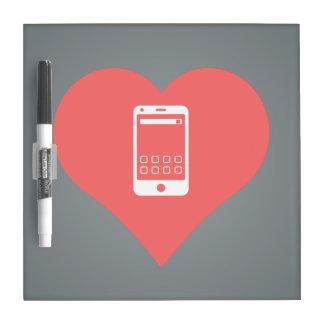 I Love Charging Smartphones Dry-Erase Board