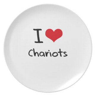 I love Chariots Plate