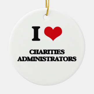 I love Charities Administrators Christmas Tree Ornament