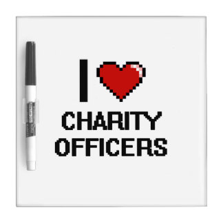 I love Charity Officers Dry-Erase Boards