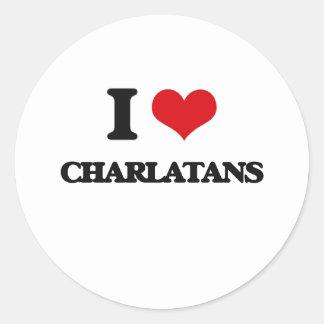 I love Charlatans Classic Round Sticker