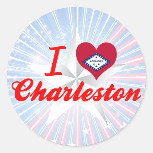 I Love Charleston, Arkansas Round Stickers