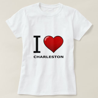 I LOVE CHARLESTON,SC - SOUTH CAROLINA TEE SHIRT