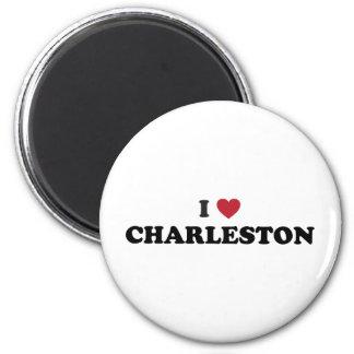 I Love Charleston South Carolina 2 Inch Round Magnet
