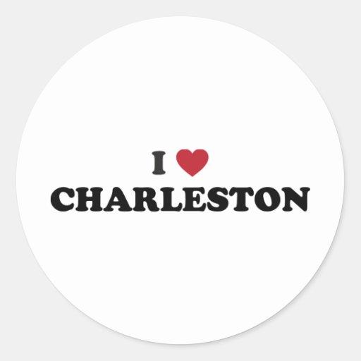 I Love Charleston South Carolina Stickers