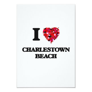 I love Charlestown Beach Rhode Island 3.5x5 Paper Invitation Card
