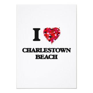 I love Charlestown Beach Rhode Island 5x7 Paper Invitation Card