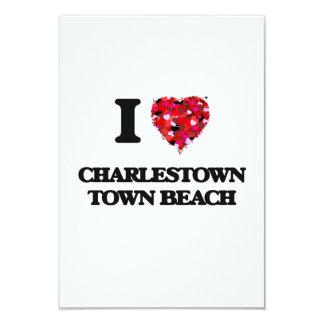 I love Charlestown Town Beach Rhode Island 3.5x5 Paper Invitation Card