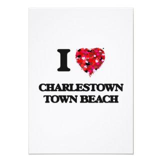 I love Charlestown Town Beach Rhode Island 5x7 Paper Invitation Card