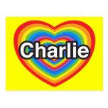 I love Charlie. I love you Charlie. Heart Postcards