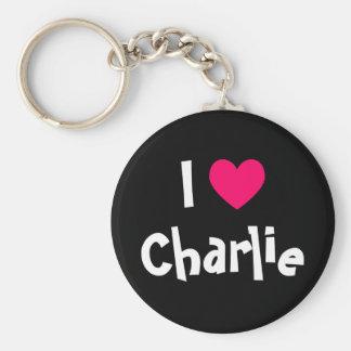 I Love Charlie Keychain